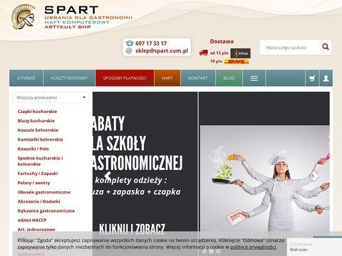 Ubrania dla gastronomii, haft komputerowy - Spart