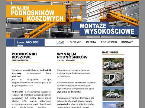 Siegam.pl wynajem podnośników Łódź