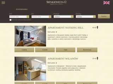 Sienkiewicza12.pl apartamenty Zakopane