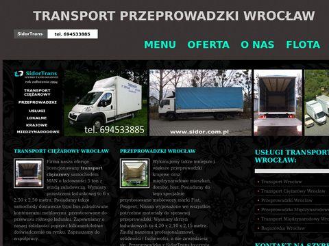 Przeprowadzki Wrocław sidor.com.pl