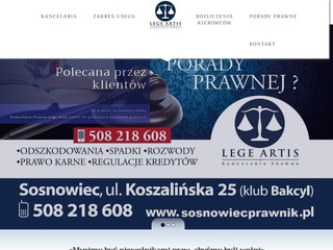 Lege Artis adwokat Sosnowiec