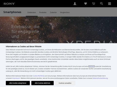 Sonymobile.com aparaty telefoniczne