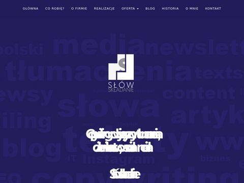 Slowskladanie.pl pisanie tekstów na strony