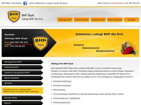 Obsługa BHP firm śląskie