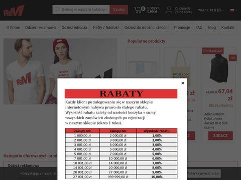 P & M producent odzieży ochronnej Warszawa