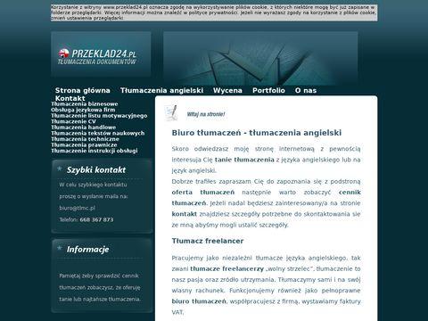 Przeklad24.pl angielski tłumacz