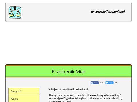 Przelicznikmiar.pl jednostek