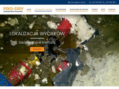 Osuszanie mieszkań Pro-Dry