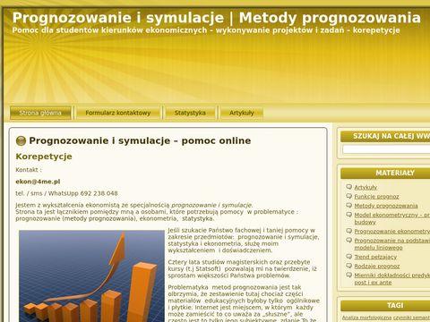 Prognozowanie i symulacje, metody prognozowania