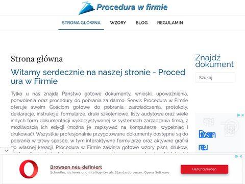 Procedurawfirmie.pl druk kw
