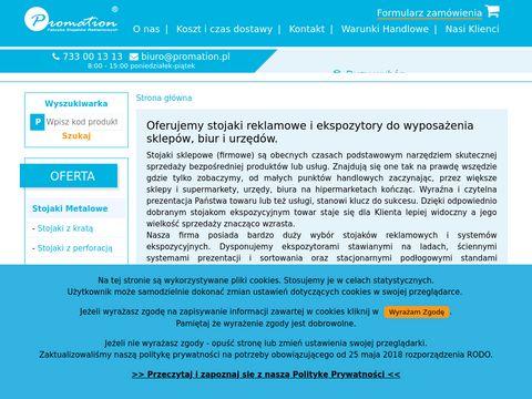 Promation.pl stojaki na foldery i ulotki