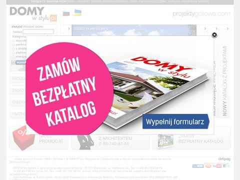 Projektygotowe.com projekty domów jednorodzinnych