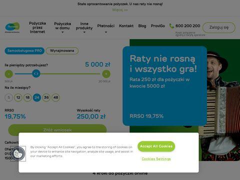 Provident.pl pożyczki gotówkowe