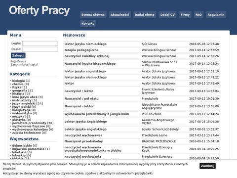 Praca.dlaszkoly.com.pl - praca dla nauczyciela