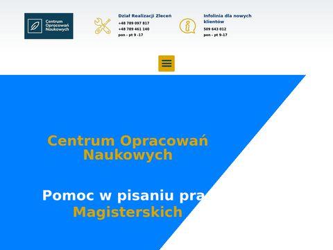 Pracemagisterskie.pl - najlepsze prace dyplomowe