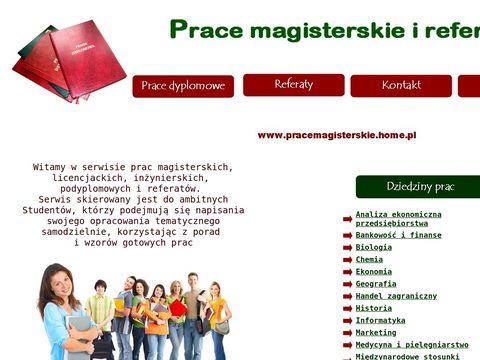 Szeroki wybór prac magisterskich, dyplomowych, licencjackich
