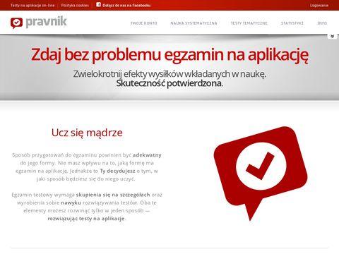 Pravnik - testy na aplikacje on-line