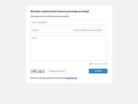 Prestigecarclub.pl wypożyczalnia aut premium