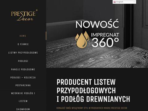 Prestige Decor producent listew