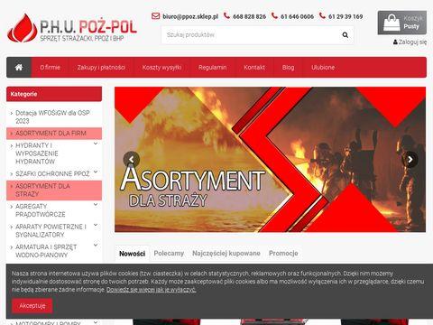 Ppoz.sklep.pl sklep strażacki