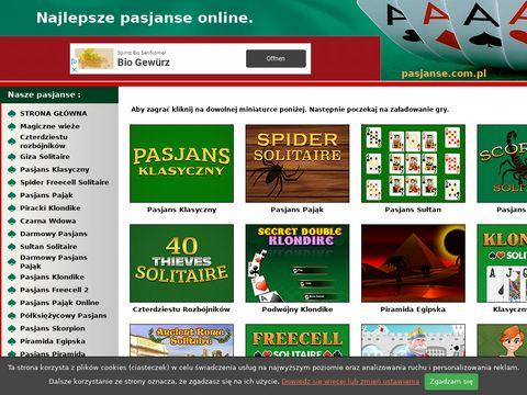 Pasjanse.com.pl - darmowe gry karciane