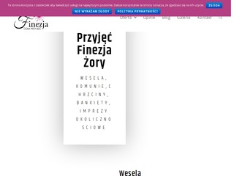 Sala weselna - Rybnik, Żory, Pszczyna