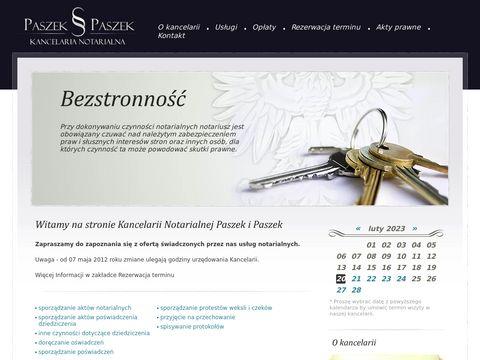 Paszek i Paszek kancelaria notarialna Katowice