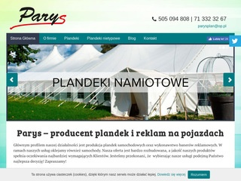 Parys Paweł Rypl plandeki na przyczepy Wrocław