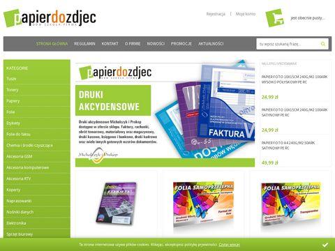 Papierdozdjec.pl materiały eksploatacyjne do drukarek