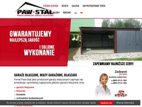 Paw Stal - garaże blaszane