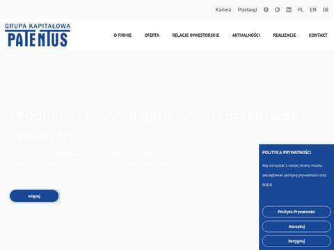 Patentus.eu maszyny górnicze producent