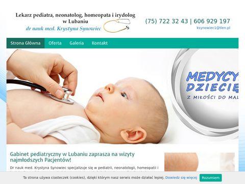 Krystyna Synowiec usługi pediatry
