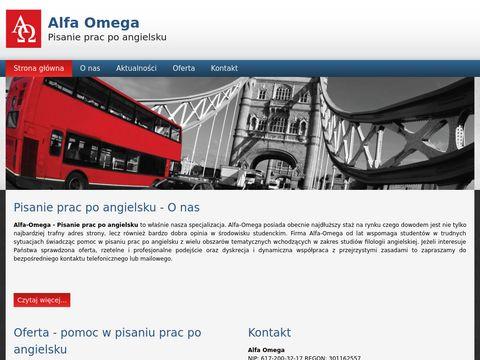Alfa-Omega - pisanie prac angielski