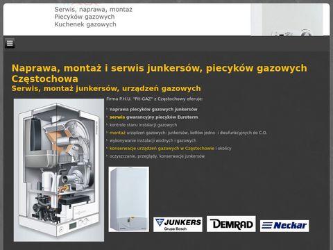 Pitgaz.com.pl naprawy junkersów Częstochowa