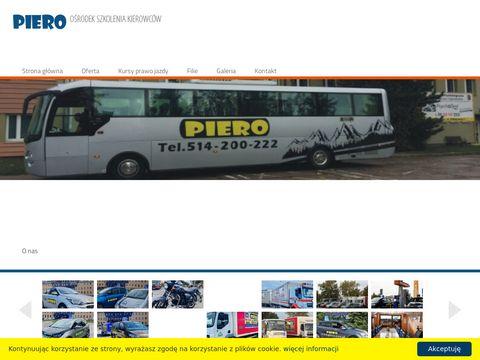 Piero.com.pl kurs prawo jazdy Warszawa