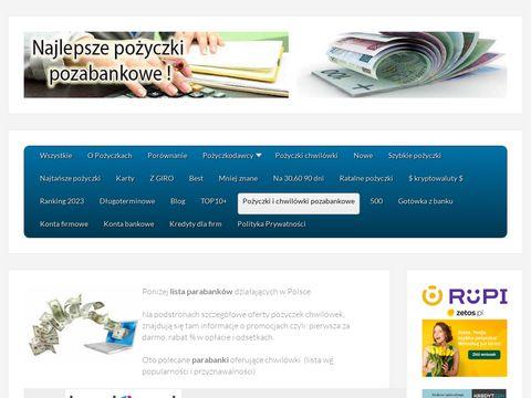 Pozyczkabez.pl ranking pożyczek chwilówek