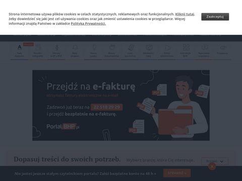 Portalbhp.pl - przepisy