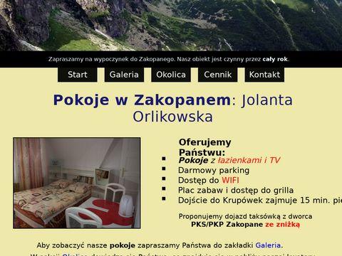 Pokoje-zakopane.com Jolanta Orlikowska