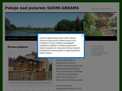 Suomi - noclegi nad jeziorem, zachodniopomorskie