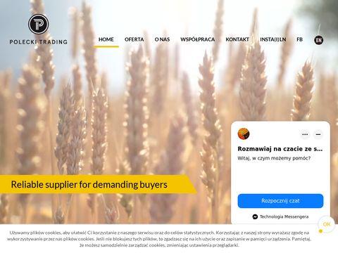 Poleckitrading.com hurtowa sprzedaż ziarna