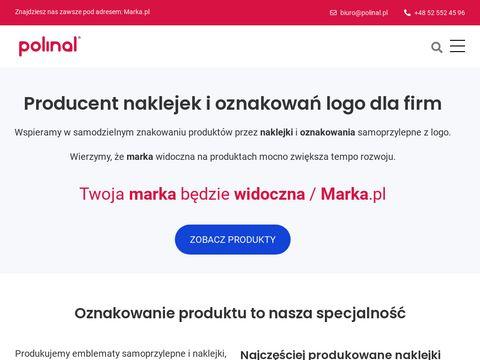 Polinal.pl naklejki wypukłe emblematy