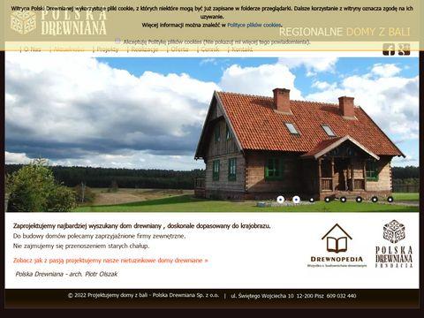 Polska Drewniana domy z bali budowa