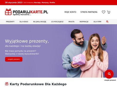Podarujkarte.pl bony podarunkowe