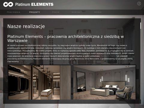 Platinumelements.pl projektant wnętrz Warszawa