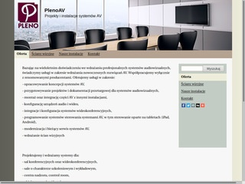 PlenoAV - systemy audiowizualne