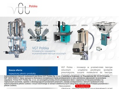 Vgt.com.pl - suszarki do tworzyw sztucznych
