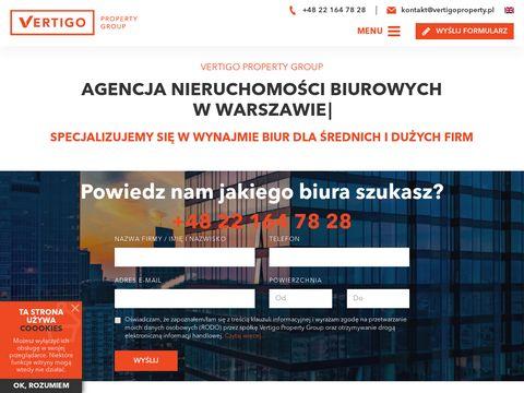 Vertigoproperty.pl tymczasowe biura do wynajęcia