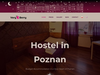 Very-berry.pl hostel w centrum Poznania