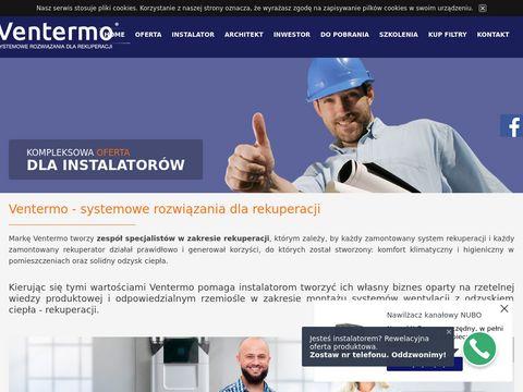 Ventermo.pl rekuperatory przeciwprądowe