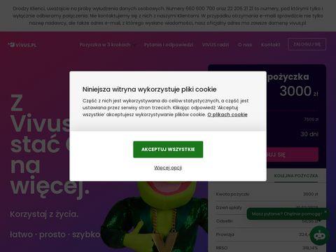 Vivus.pl - pożyczka przez internet